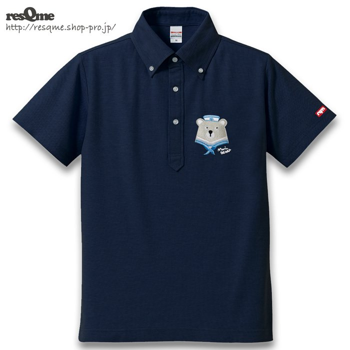 <img class='new_mark_img1' src='https://img.shop-pro.jp/img/new/icons1.gif' style='border:none;display:inline;margin:0px;padding:0px;width:auto;' />[刺繍] MarineBEAR01-Polar- POLO (Navy)
