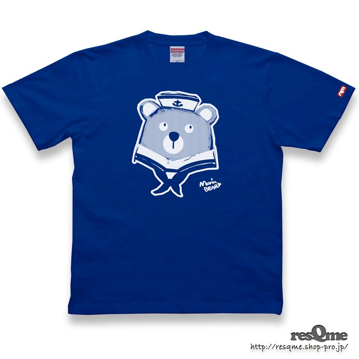 MarineBEAR01 TEE (RoyalBlue)