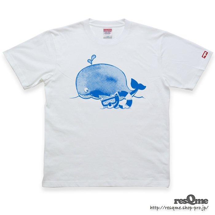 MarineBEAR02 -Whale- TEE (White01)