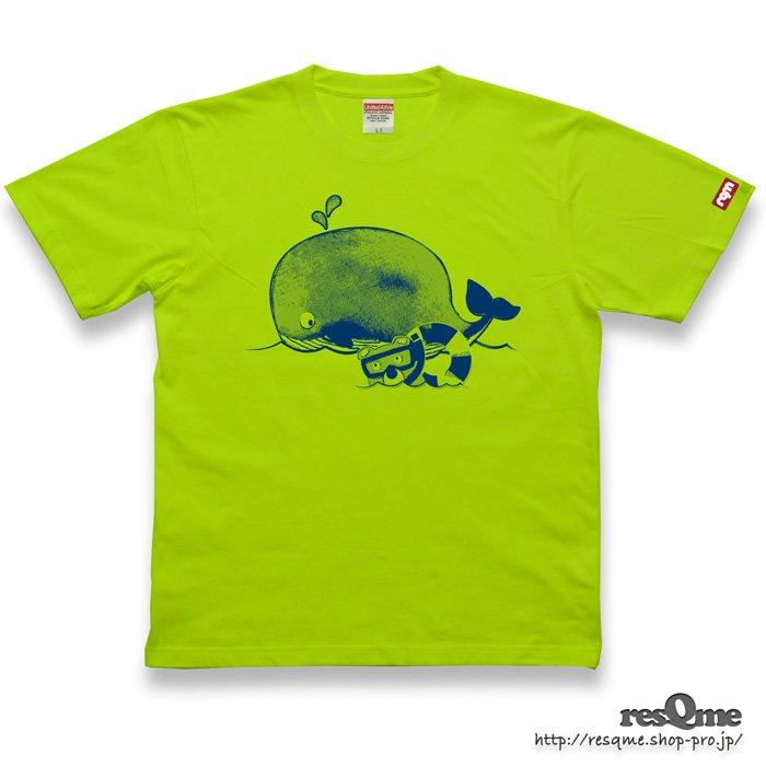 MarineBEAR02 -Whale- TEE (Lime)