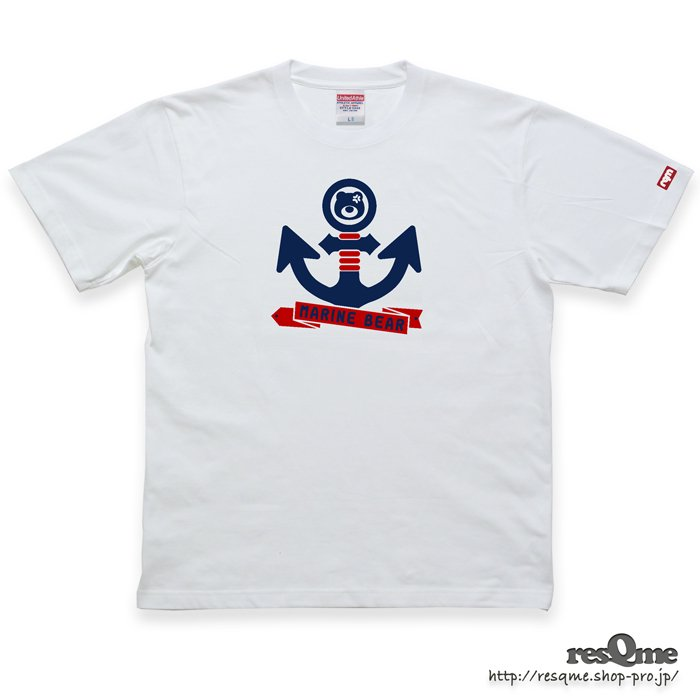 MarineBEAR03 -Anchor- TEE (White01)