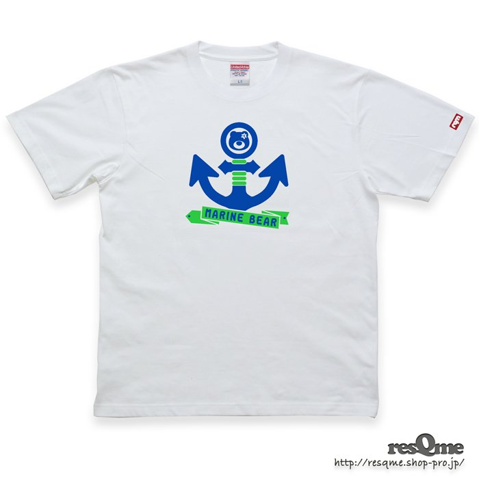 MarineBEAR03 -Anchor- TEE (White02)