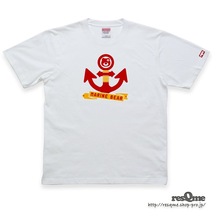 MarineBEAR03 -Anchor- TEE (White03)