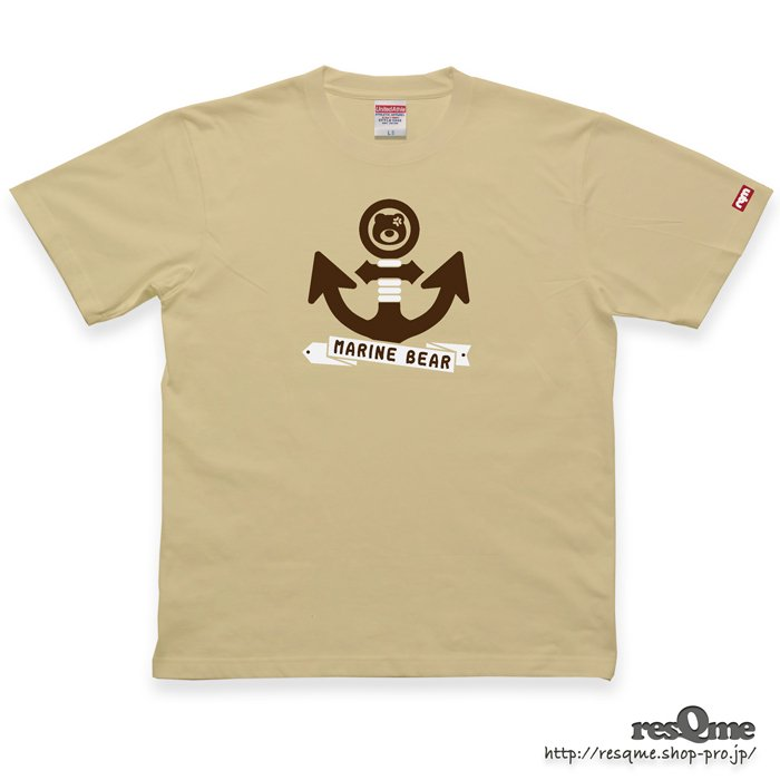 MarineBEAR03 -Anchor- TEE (LightBeige)