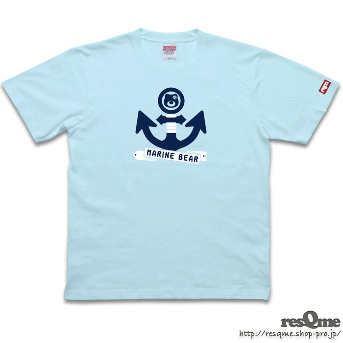 MarineBEAR03 -Anchor- TEE (LightBlue)