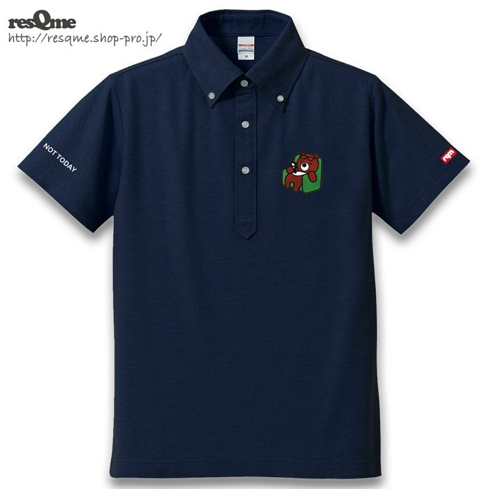 <img class='new_mark_img1' src='https://img.shop-pro.jp/img/new/icons1.gif' style='border:none;display:inline;margin:0px;padding:0px;width:auto;' />[刺繍] NotTodayBEAR POLO (Navy)