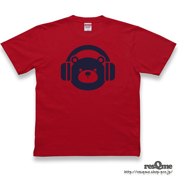 <img class='new_mark_img1' src='https://img.shop-pro.jp/img/new/icons1.gif' style='border:none;display:inline;margin:0px;padding:0px;width:auto;' />MUSIC-BEAR TEE (Red)