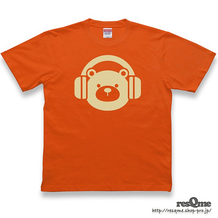 <img class='new_mark_img1' src='https://img.shop-pro.jp/img/new/icons1.gif' style='border:none;display:inline;margin:0px;padding:0px;width:auto;' />MUSIC-BEAR TEE (CaliforniaOrange)