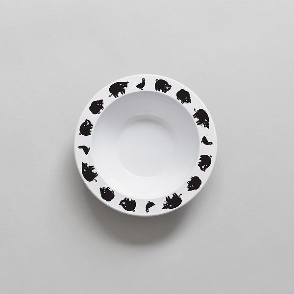 <img class='new_mark_img1' src='https://img.shop-pro.jp/img/new/icons8.gif' style='border:none;display:inline;margin:0px;padding:0px;width:auto;' />BUDDYANDBEAR バディーアンドベアー Farm Animal Bowl (Black) ファームアニマルボウル