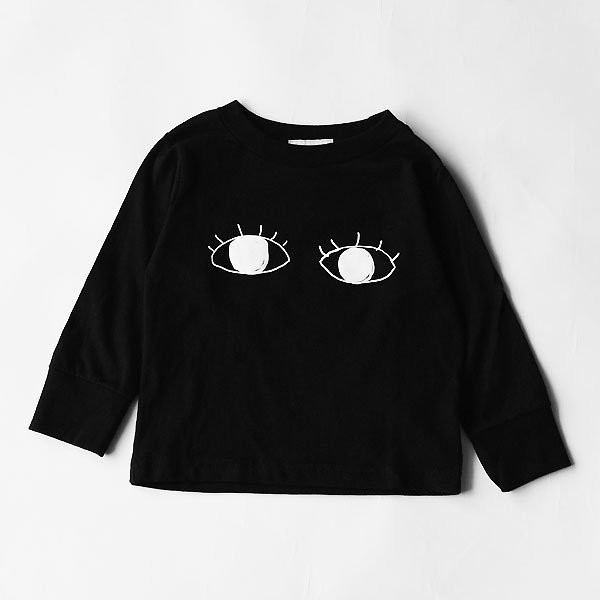 <img class='new_mark_img1' src='https://img.shop-pro.jp/img/new/icons8.gif' style='border:none;display:inline;margin:0px;padding:0px;width:auto;' />squeak スクイーク eye長袖Tシャツ ブラック