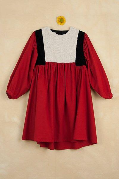 <img class='new_mark_img1' src='https://img.shop-pro.jp/img/new/icons8.gif' style='border:none;display:inline;margin:0px;padding:0px;width:auto;' />Popelin ポペリン Mod.21.1 Red waistcoat dress 長袖ワンピース