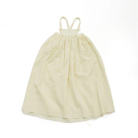 <img class='new_mark_img1' src='https://img.shop-pro.jp/img/new/icons8.gif' style='border:none;display:inline;margin:0px;padding:0px;width:auto;' />UNIONINI ユニオニーニ gauze apron long dress ホワイト