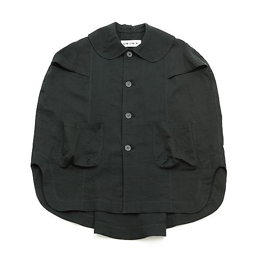 <img class='new_mark_img1' src='https://img.shop-pro.jp/img/new/icons8.gif' style='border:none;display:inline;margin:0px;padding:0px;width:auto;' />UNIONINI ユニオニーニ gauze work shirt ガーゼワークシャツ ブラック