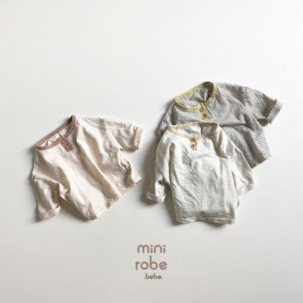 <img class='new_mark_img1' src='https://img.shop-pro.jp/img/new/icons8.gif' style='border:none;display:inline;margin:0px;padding:0px;width:auto;' />minirobe ミニローブ ボーダー長袖Tシャツ