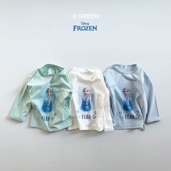 <img class='new_mark_img1' src='https://img.shop-pro.jp/img/new/icons8.gif' style='border:none;display:inline;margin:0px;padding:0px;width:auto;' />digreen ディグリーン Frozen2 Elsa T-shirt ディズニー長袖Tシャツ 2色