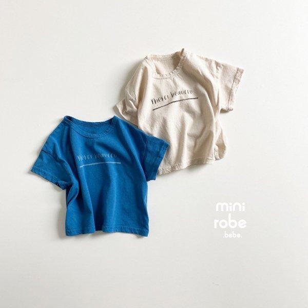 <img class='new_mark_img1' src='https://img.shop-pro.jp/img/new/icons8.gif' style='border:none;display:inline;margin:0px;padding:0px;width:auto;' />minirobe ミニローブ merci T-shirt  半袖Tシャツ