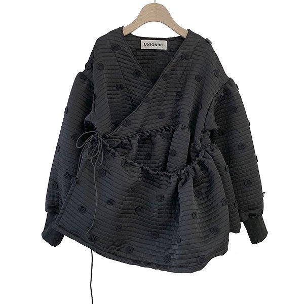 <img class='new_mark_img1' src='https://img.shop-pro.jp/img/new/icons8.gif' style='border:none;display:inline;margin:0px;padding:0px;width:auto;' />UNIONINI ユニオニーニ metelassé chech-coeur jacket ジャケット ブラック