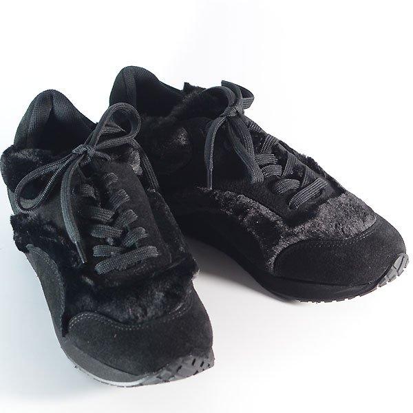 <img class='new_mark_img1' src='https://img.shop-pro.jp/img/new/icons8.gif' style='border:none;display:inline;margin:0px;padding:0px;width:auto;' />《予約販売》UNIONINI ユニオニーニ fur sneakers スニーカー ブラック