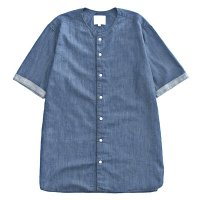 <img class='new_mark_img1' src='https://img.shop-pro.jp/img/new/icons49.gif' style='border:none;display:inline;margin:0px;padding:0px;width:auto;' />VICTIM - NO COLLAR DENIM SHIRTS