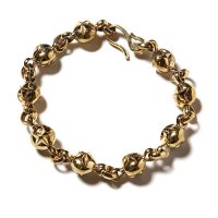 <img class='new_mark_img1' src='https://img.shop-pro.jp/img/new/icons49.gif' style='border:none;display:inline;margin:0px;padding:0px;width:auto;' />CALEE - Star ball chain bracelet Brass