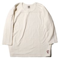 <img class='new_mark_img1' src='https://img.shop-pro.jp/img/new/icons49.gif' style='border:none;display:inline;margin:0px;padding:0px;width:auto;' />CALEE - 3/4 Sleeve v neck foot ball t-shirt