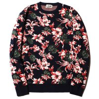 <img class='new_mark_img1' src='https://img.shop-pro.jp/img/new/icons49.gif' style='border:none;display:inline;margin:0px;padding:0px;width:auto;' />CALEE - Jacquard flower pattern crew neck knit sweater