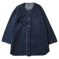 <img class='new_mark_img1' src='https://img.shop-pro.jp/img/new/icons49.gif' style='border:none;display:inline;margin:0px;padding:0px;width:auto;' />CALEE - 3/4 Sleeve stitched indigo base ball shirt