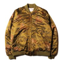 <img class='new_mark_img1' src='https://img.shop-pro.jp/img/new/icons49.gif' style='border:none;display:inline;margin:0px;padding:0px;width:auto;' />CALEE - Praffin satin tiger pattern rib jacket