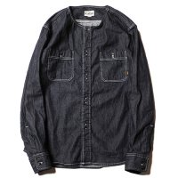 <img class='new_mark_img1' src='https://img.shop-pro.jp/img/new/icons49.gif' style='border:none;display:inline;margin:0px;padding:0px;width:auto;' />CALEE - No collar L/S denim shirt
