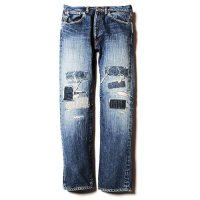<img class='new_mark_img1' src='https://img.shop-pro.jp/img/new/icons49.gif' style='border:none;display:inline;margin:0px;padding:0px;width:auto;' />CALEE - Crash repair tapered slim denim
