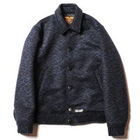 <img class='new_mark_img1' src='https://img.shop-pro.jp/img/new/icons49.gif' style='border:none;display:inline;margin:0px;padding:0px;width:auto;' />CALEE - Double jacquard wave pattern sports jacket