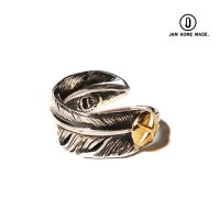 <img class='new_mark_img1' src='https://img.shop-pro.jp/img/new/icons49.gif' style='border:none;display:inline;margin:0px;padding:0px;width:auto;' />CALEE - ×JAM HOME MADE Feather pinkie ring