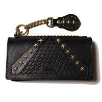 <img class='new_mark_img1' src='https://img.shop-pro.jp/img/new/icons49.gif' style='border:none;display:inline;margin:0px;padding:0px;width:auto;' />CALEE - Rebel frag studs leather long wallet