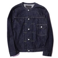 <img class='new_mark_img1' src='https://img.shop-pro.jp/img/new/icons49.gif' style='border:none;display:inline;margin:0px;padding:0px;width:auto;' />CALEE - 1st type no collar denim jacket