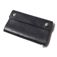 <img class='new_mark_img1' src='https://img.shop-pro.jp/img/new/icons49.gif' style='border:none;display:inline;margin:0px;padding:0px;width:auto;' />CALEE - Silver star concho flap leather long wallet