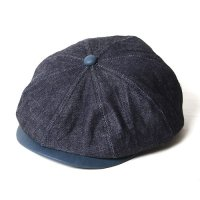 <img class='new_mark_img1' src='https://img.shop-pro.jp/img/new/icons49.gif' style='border:none;display:inline;margin:0px;padding:0px;width:auto;' />CALEE - Indigo leather Denim casquette