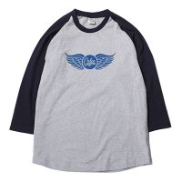 <img class='new_mark_img1' src='https://img.shop-pro.jp/img/new/icons49.gif' style='border:none;display:inline;margin:0px;padding:0px;width:auto;' />CALEE - 3/4 Sleeve raglan t-shirt
