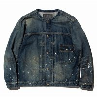 CALEE - Used 1st type no collar denim jacket