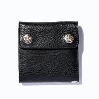<img class='new_mark_img1' src='https://img.shop-pro.jp/img/new/icons5.gif' style='border:none;display:inline;margin:0px;padding:0px;width:auto;' />CALEE - Silver star concho flap leather short wallet