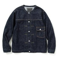 <img class='new_mark_img1' src='https://img.shop-pro.jp/img/new/icons5.gif' style='border:none;display:inline;margin:0px;padding:0px;width:auto;' />CALEE - 1st type no collar denim jacket