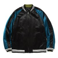 <img class='new_mark_img1' src='https://img.shop-pro.jp/img/new/icons5.gif' style='border:none;display:inline;margin:0px;padding:0px;width:auto;' />CALEE - Reversible satin souvenir jacket