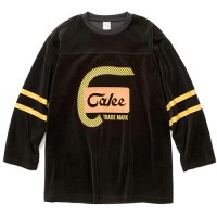 <img class='new_mark_img1' src='https://img.shop-pro.jp/img/new/icons49.gif' style='border:none;display:inline;margin:0px;padding:0px;width:auto;' />CALEE - 8 Length sleeve velour football t-shirt