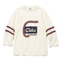 <img class='new_mark_img1' src='https://img.shop-pro.jp/img/new/icons5.gif' style='border:none;display:inline;margin:0px;padding:0px;width:auto;' />CALEE - 8 Length sleeve velour football t-shirt
