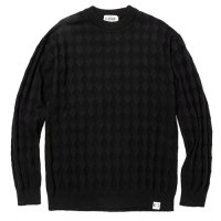 <img class='new_mark_img1' src='https://img.shop-pro.jp/img/new/icons49.gif' style='border:none;display:inline;margin:0px;padding:0px;width:auto;' />CALEE - Links diamond stitch crew neck knit sweater