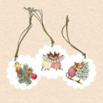 Christmas Gift Tag Wee Forest Folk