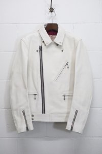 <img class='new_mark_img1' src='https://img.shop-pro.jp/img/new/icons14.gif' style='border:none;display:inline;margin:0px;padding:0px;width:auto;' />【ADDICT CLOTHES JAPAN】アディクトクローズ AD-03 KIP LEATHER BRITISH ASYMMETRY JACKET/TIGHT別注商品 (WHITE)