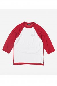 <img class='new_mark_img1' src='https://img.shop-pro.jp/img/new/icons50.gif' style='border:none;display:inline;margin:0px;padding:0px;width:auto;' />【RENDER】レンダー TWO TONE RAGLAN TEE (RED / OFF WHITE)