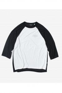<img class='new_mark_img1' src='https://img.shop-pro.jp/img/new/icons50.gif' style='border:none;display:inline;margin:0px;padding:0px;width:auto;' />【RENDER】レンダー TWO TONE RAGLAN TEE (BLACK / OFF WHITE)
