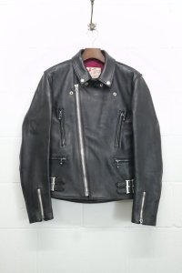 <img class='new_mark_img1' src='https://img.shop-pro.jp/img/new/icons14.gif' style='border:none;display:inline;margin:0px;padding:0px;width:auto;' />【ADDICT CLOTHES JAPAN】アディクトクローズ AD-02 DOUBLE RIDERS JACKET - SHEEP (BLACK)