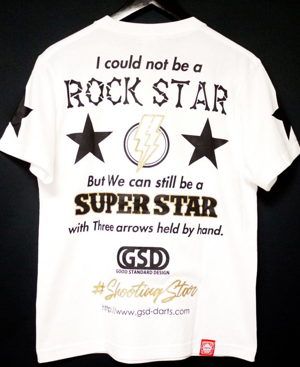 【半袖】ROCK STAR T-shirts/WHITE